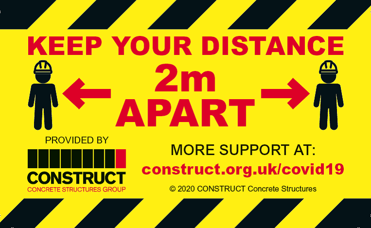 CONSTRUCT Launches Two Metre Hardhat Sticker Campaign During COVID-19